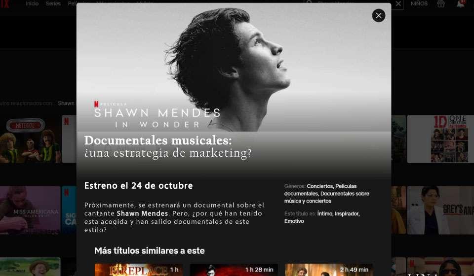 Portada; Documentales musicales ¿Una estrategia de marketing?