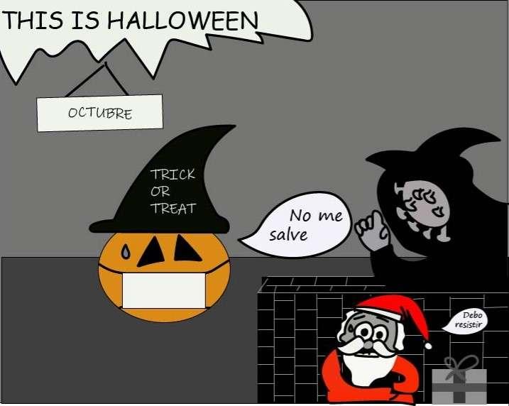 Caricatura de Halloween