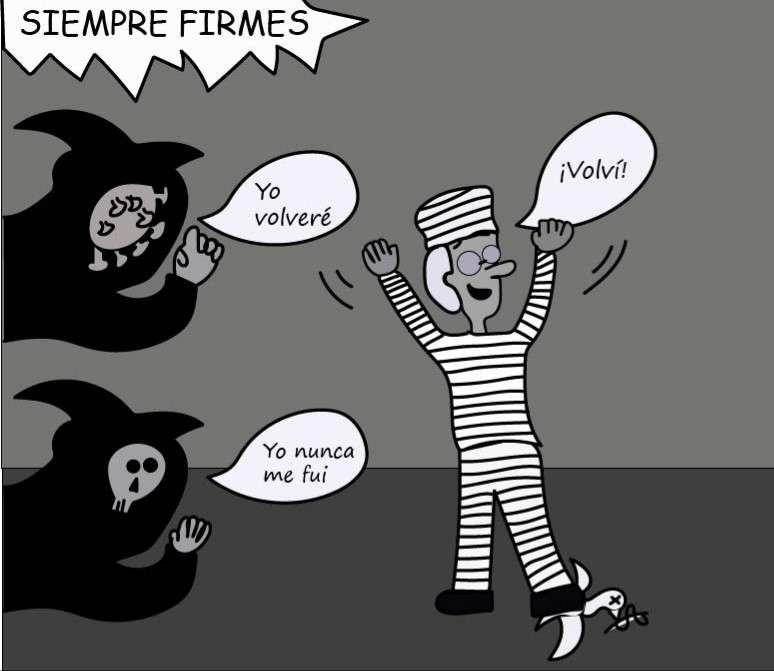 """Caricatura de Uribe y su """"condena"""""""